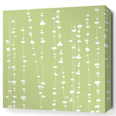 Inhabit Estrella Pussy Willows Stretched Graphic Art on Canvas in Celery
