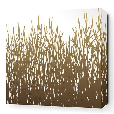 Inhabit Nourish Field Grass Stretched Graphic Art on Canvas