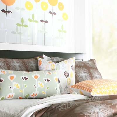 Inhabit Aequorea Organic Bedding Collection in Chocolate and Silver