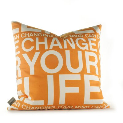 Inhabit Change Your Life Pillow in Sunshine