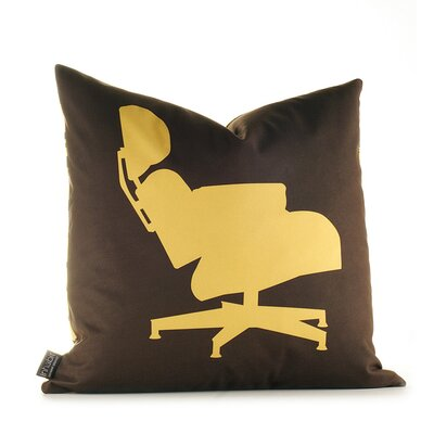 Inhabit Modern Classics Pillow in Chocolate and Sunflower