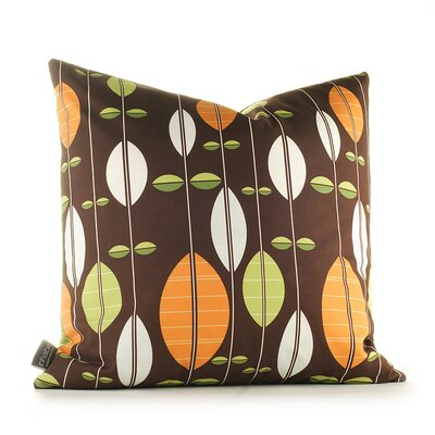 Inhabit Aequorea Carousel Pillow in Chocolate and Sunshine
