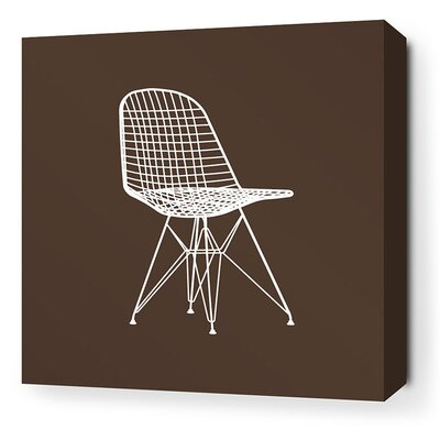 Inhabit Modern Classics 1951 Stretched Wall Art in Chocolate and Sunshine