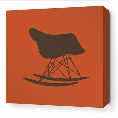 Inhabit Modern Classics 1948 Stretched Wall Art in Rust and Cornflower