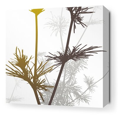 Inhabit Morning Glory Prairie Stretched Wall Art in Olive and Charcoal