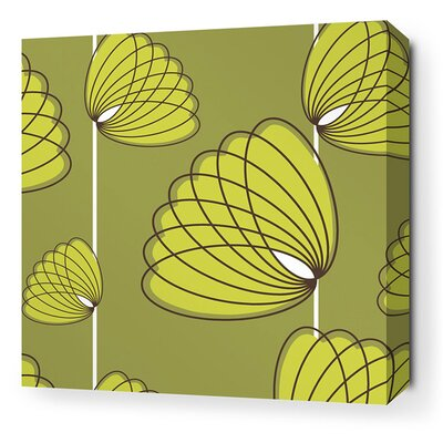 Inhabit Aequorea Lotus Graphic Art on Canvas in Grass and Lime