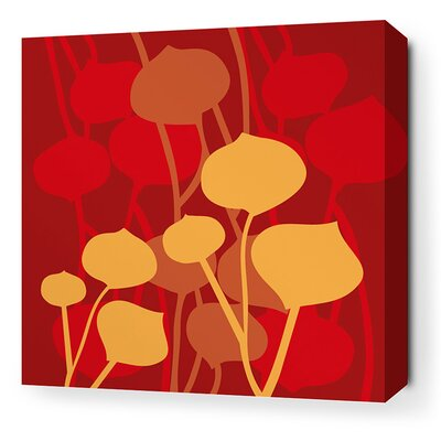 Aequorea Seedling Graphic Art on Canvas in Scarlet