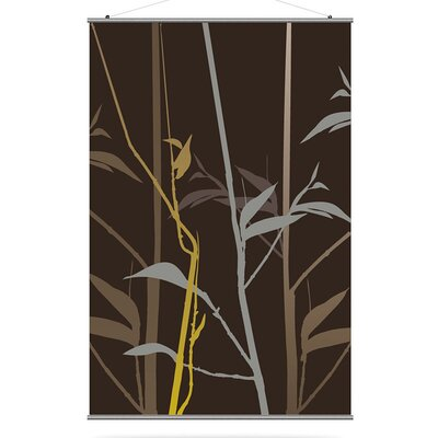 Inhabit Morning Glory Tall Grass Slat in Charcoal and Olive