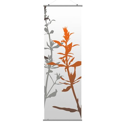 Inhabit Morning Glory Wildflower Slat in Silver and Rust 3