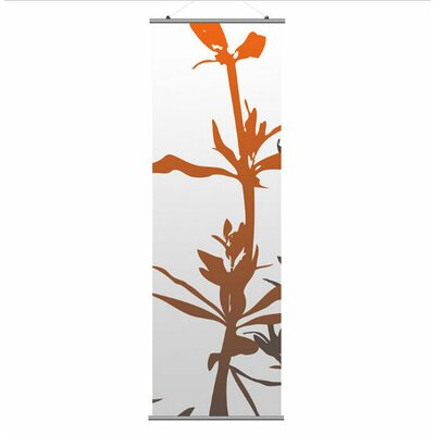 Inhabit Morning Glory Wildflower Slat in Silver and Rust 1