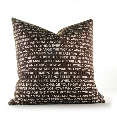 Inhabit Graphic Pillows Why Not Synthetic Pillow