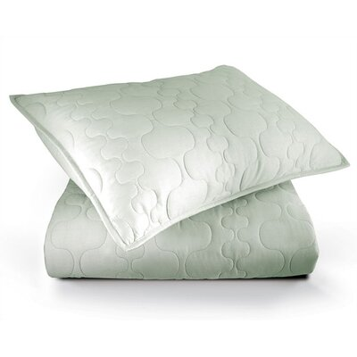 Inhabit Spa Quilted Coverlet in Mist