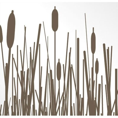 Inhabit Cattails Stretched Wall Art in Chocolate