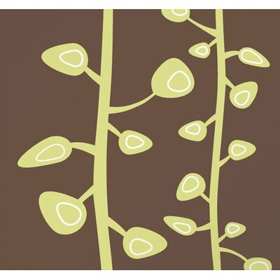 Inhabit Bud Stretched Wall Art in Chocolate