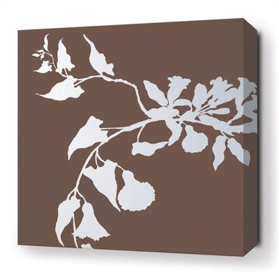 Inhabit Morning Glory Stretched Wall Art in Chocolate