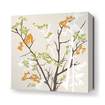 Inhabit Ailanthus Stretched Wall Art in Wheat