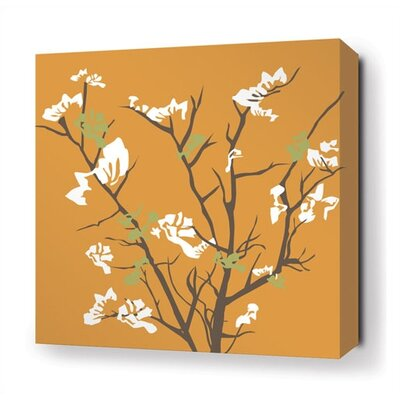 Inhabit Ailanthus Stretched Wall Art in Sunshine