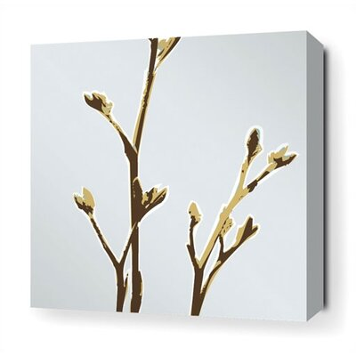 Inhabit Axis Stretched Wall Art in Aqua