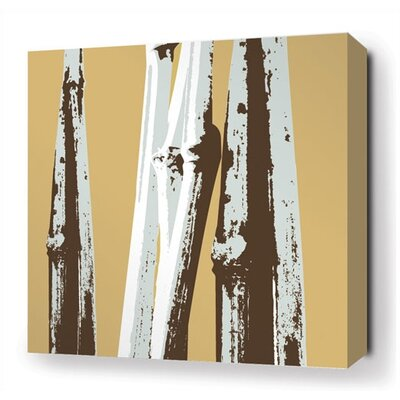 Inhabit Bamboo Stretched Wall Art in Aqua