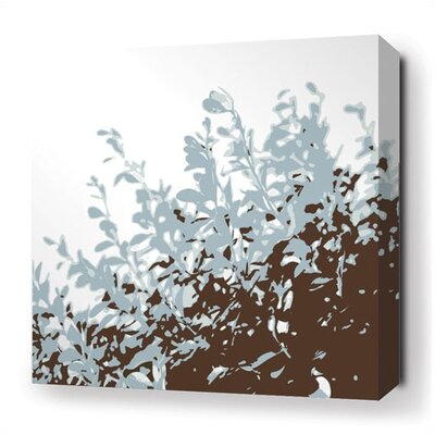 Inhabit Foliage Stretched Wall Art in Aqua