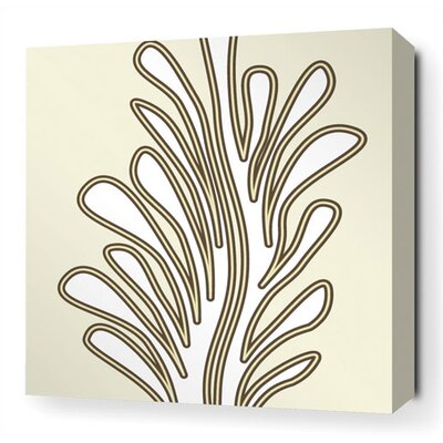 Inhabit Seagrass Stretched Wall Art in Moss