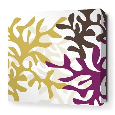 Inhabit Reef Stretched Wall Art in Plum