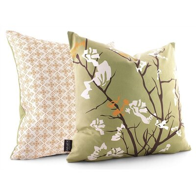 Inhabit Ailanthus Throw Pillow in Grass / Sunshine