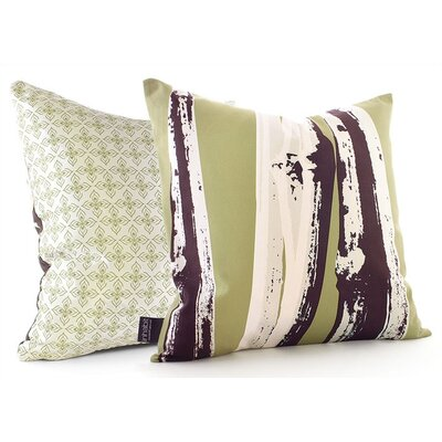 Inhabit Bamboo Throw Pillow in Grass