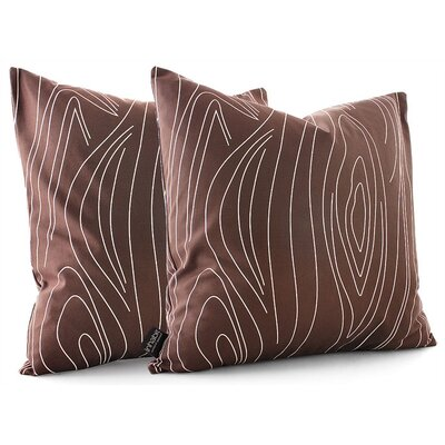 Inhabit Madera Throw Pillow in Chocolate