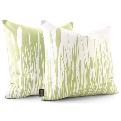 Estrella Cattails Suede Throw Pillow
