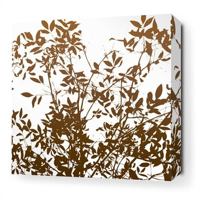 Inhabit Brush Stretched Wall Art in White
