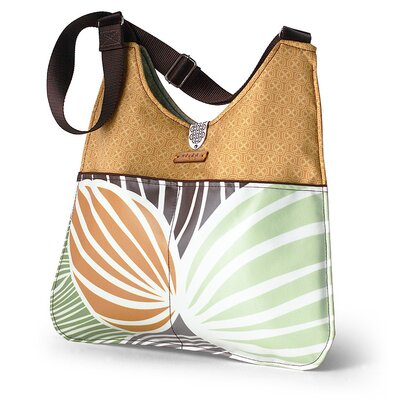 Inhabit Nixon Leaf Handbag in Grass / Butterscotch