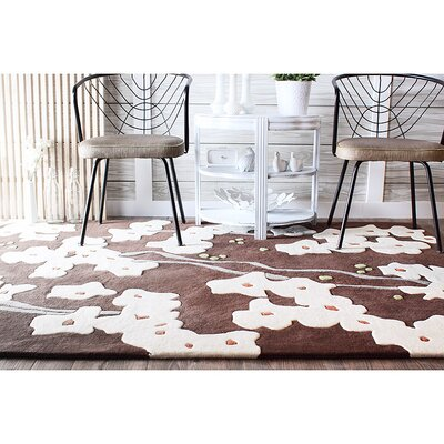 Inhabit Pyrus Rug in Chocolate/ Soy