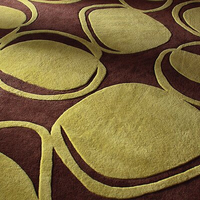 Inhabit River Rock Rug in Chocolate/ Kiwi