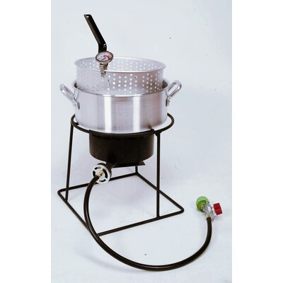 King kooker welded outdoor fish fryer package with 10 for Best fish to deep fry