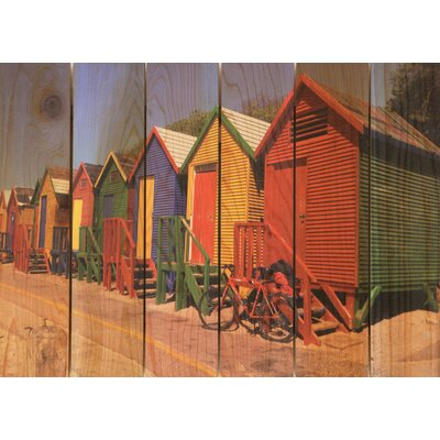 Gizaun Art Colored Cabanas Wall Art