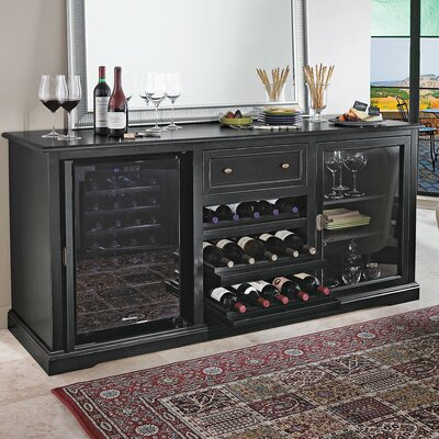 Wine Enthusiast Siena Wine Credenza with 28 Bottle Touchscreen Wine Refrigerator