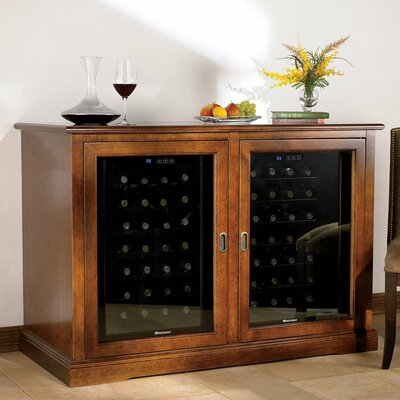 Siena 28 Bottle Dual Zone Wine Refrigerator Credenza Wayfair