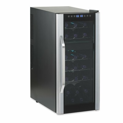 Wine Enthusiast Companies Silent 21 Bottle Dual Zone Touchscreen Wine Refrigerator