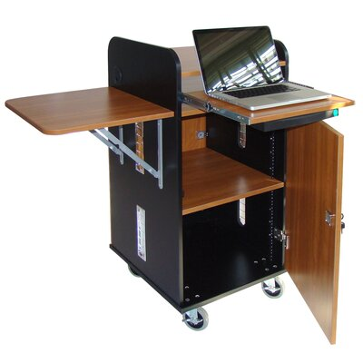 Woodware Furniture Answer Multimedia Rack Cart
