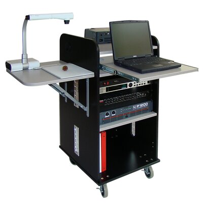 Woodware Furniture AV Lecterns and Podiums Answer Multimedia Rack Cart