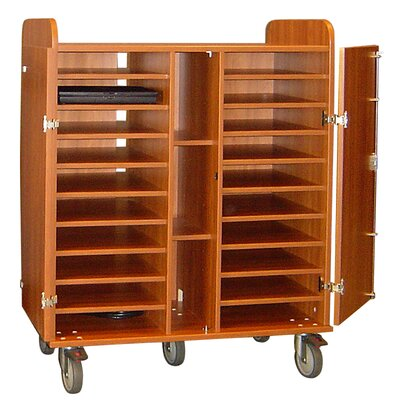 Woodware Furniture 20-Compartment Laptop Cart