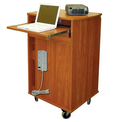 Woodware Furniture 8 Unit Laptop Presentation Cart