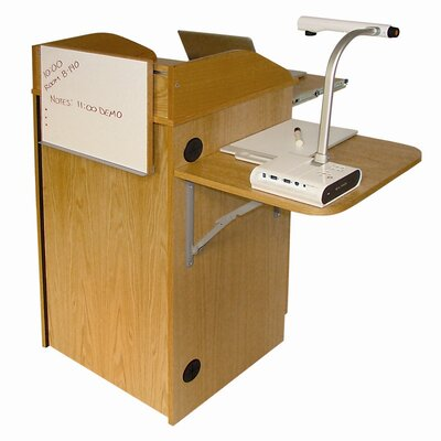 Woodware Furniture Counsel Media Lectern with Standard Sound