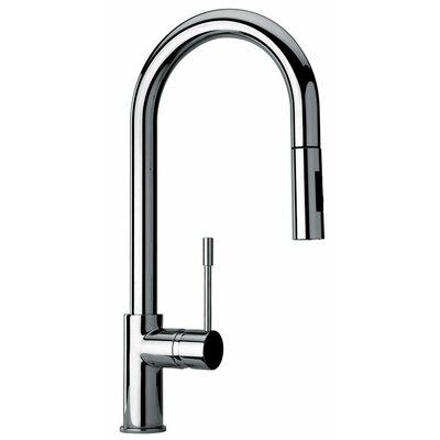 J25 Kitchen Series Single Hole Kitchen Faucet with Goose Neck Spout