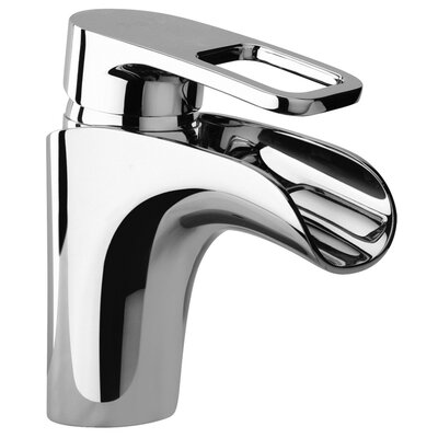 J10 Bath Series Single Loop Handle Bathroom Faucet with Waterfall Spout - 1021