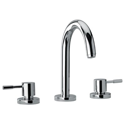 J16 Bath Series Two Lever Handle Roman Tub Faucet with Goose Neck Spout - 16102 ...