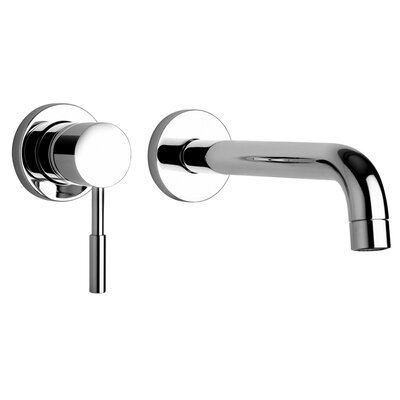 J16 Bath Series Two Hole Wall Mount Bathroom Faucet with Control and Spout - 1620 ...