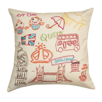 London Icons 2 Cotton Pillow