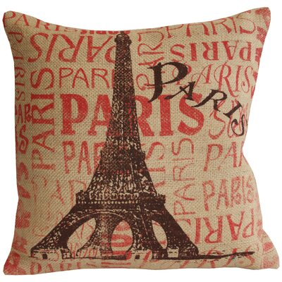 Divine Designs Paris Jute Cotton Pillow